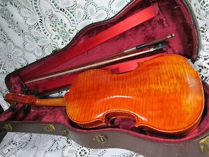 Fine Stunning Old Gustav August Ficker 1965 Viola EH ROTH Workshop? 4/4 w/ Bow