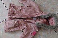 Manteau verbaudet 36 mois à capuche rose poudré BEG col fourrure