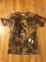 Star Wars Fifth Sun Chewbacca Graphic Tye Dye Brown Shirt Size M Medium
