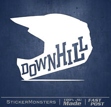 Downhill Trails MTB Sticker Decal 130mmW Helmet bike Car Van Giant GT RockShoX