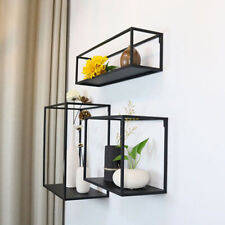 3 in 1 Vintage Metal Wire Shelves Wall Mounted Shelf Rack Storage Display Unit