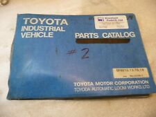 Toyota 5fbe10 5fbe13 5fbe15 5fbe18 Forklift Parts Book Catalog