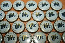 200 MILLER LITE BEER BOTTLE CAPS - No Dents or dings - Arts and Crafts