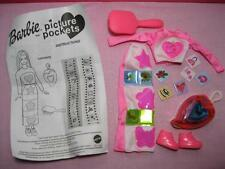 Barbie Doll Clothes/Tennis Shoes-PICTURE POCKETS 2001-PINK SKIRT Heart Punch set