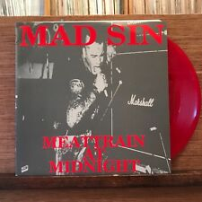 "MAD SIN MEATTRAIN AT MIDNIGHT PSYCHOBILLY RED VINYL 7""ep"