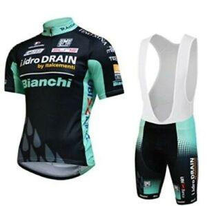 Completo Ciclismo Estivo- Alta qualità Team Bianchi - Divisa  2021 Nero