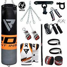 Rdx Unfilled Punching Bag Kick Boxing Set Gloves Mma Chains Training Muay Thai