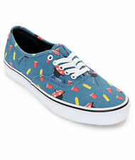 Vans Authentic Pool Vibes Blue Ashes BBQ Men's 11 Skate Shoes New NIB Red Solo