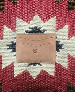 Ralph Luaren RRL Roughout Suede Leather Card Holder Wallet