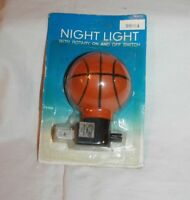 "Basketball Night Nite Light  4 Watt  2 1/2""W x 31/2""H  Kids Room  New"