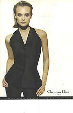 PUBLICITE ADVERTISING  1996  DIOR pantalon & chemisier dans manches