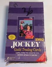 1992 STAR Jockey Guild Trading Cards 36 Packs