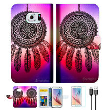 Dream Catcher Wallet Case Cover For Samsung Galaxy S7-- A027