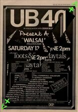 UB40 Toots & The Maytals Present Arms Tour Advert NME Cutting 1981