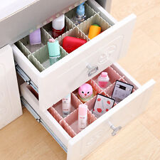6Pcs DIY Plastic Grid Drawer Divider Household Necessities Storage Organizer