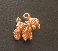 """Vintage 5/8"""" Realistic Novelty Brown Plastic Sheep Baby Lamb Charm Or Button"""