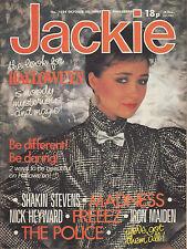 Jackie Magazine 29 October 1983 Issue 1034  Shakin' Stevens  Madness  John Rocca