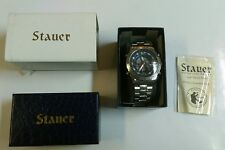 STAUER Compendium Hybrid LCD Chronograph Watch NEW in Box! #19093