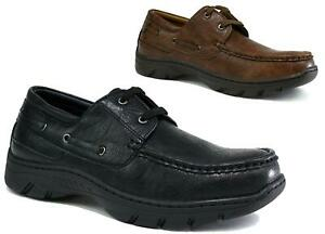 MENS NEW COMFORT LACE UP ROUNDED TOE GRIP SOLE OUTDOOR SHOES UK SIZE 6-12