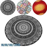 3 Type Abstract Mandala Flower Round Carpet Room Area Rugs Non-slip Floor DIY