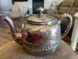 Vintage  Tea Pot Portion Silver Soldered Stamped