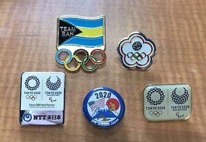 Lot of 5 Tokyo 2020 Pins