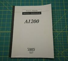 Commodore Amiga A1200 User's Guide with Service Addendum Amiga 1200
