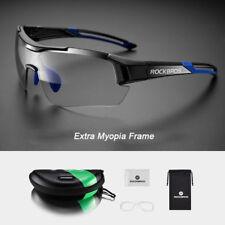 RockBros Cycling Glasses Sunglasses PC Transparent Photochromatic Black Blue New