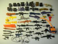 Lot 1990s GI Joe Cobra Figure Accessories Weapon Backpack Missile Gun Rifle Gear