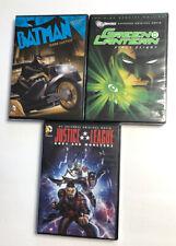 Lot 3 Batman Dark Justice Green Lantern First Flight League DC (DVD) NEW