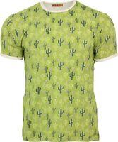 Mens Run & Fly Vintage Retro Kitsch Cactus Desert T-Shirt