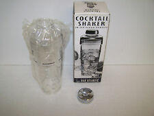 PLASTIC COCKTAIL SHAKER NEW BOXED BYBAR ATLANTIC WITH RECIPES ON SHAKER