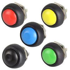 12mm Wasserdicht Momentary ON / OFF Push Button Runde Schalter zufällige Farbe