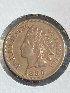 Sharp 1888 Indian Head Cent in XF+ ~ GREAT COLLECTOR COIN & GRADE