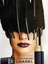 ▬► PUBLICITE ADVERTISING AD CHANEL Hydrobase maquillage
