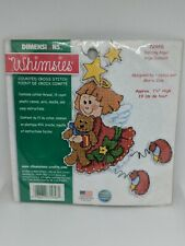 New Listing😇 Whimsies Dancing Angel Cross Stitch Plastic Canvas 72956 Christmas Ornament
