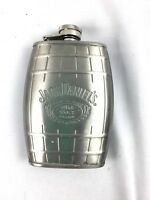 Jack Daniels Old No 7 Metal Flask Alcohol on the go Liquor To Go 6 oz 2007