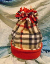 Red Burberry Extra Warm Fleece Winter Hat*Cap*Beanie*Double Layered*