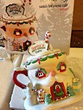 "Dept. 56 North Pole Village ""Santa's Sweet Shop""  Santa's Hot Cocoa Cafe   NEW!"