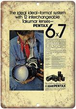 "Pentax 35mm Film 6x7 Format System 10"" x 7"" Retro Look Metal Sign"