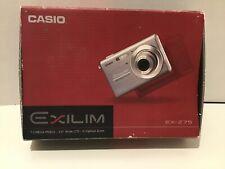"Casio Exilim Camera  EX-Z75 Black - 7.2Mega Pixels 2.6"" LCD 3 x Optical Zoom"