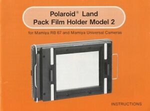 Polaroid Pack Film Holder Model 2 Instruction Manual f/ Mamiya RB & Universal