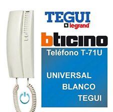 Tegui Porteros 374240 - Teléfono T-71U Universal Blanco Telefonillo NUEVO