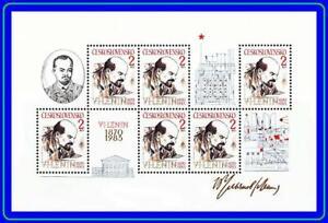 CZECHOSLOVAKIA 1985 V.I.LENIN M/S MNH **