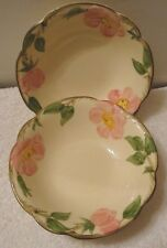"2 pc Franciscan Desert Rose 6"" Coupe Cereal Bowl Set 1958-1960 USA"