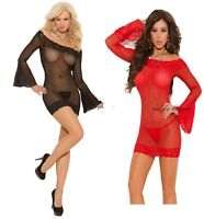Super sexy underwear Long sleeve Lace BABYDOLL intimate lingerie+Thong Valentine