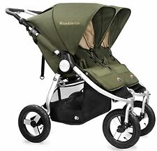 Bumbleride Indie Twin All Terrain Twin Baby Double Stroller Camp Green NEW 2017