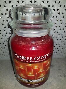 Yankee Candle Feliz Navidad large jar DEERFIELD RETIRD HFT NEW