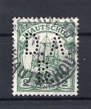 Kiautschou Firmenlochung Perfin Postmarked (A4282