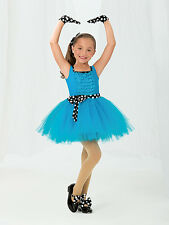 Revolutions Tap Dance Costume, Small Child, Peacock Blue, Accessories Included